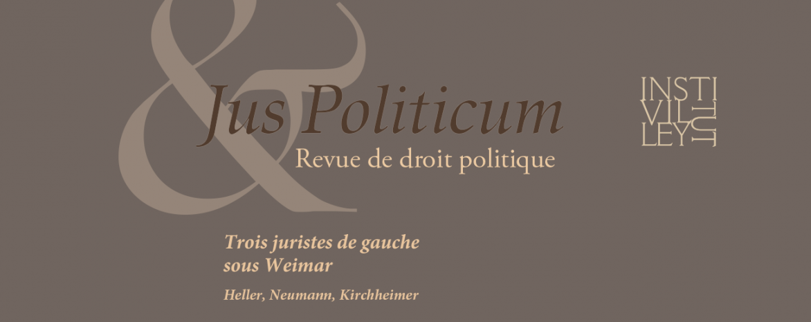 Le numéro 23 de la revue Jus Politicum est paru
