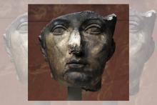 Photo de la sculpture du portrait de Sabine, femme de l'empereur Hadrien